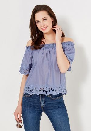 Блуза Only. Цвет: синий