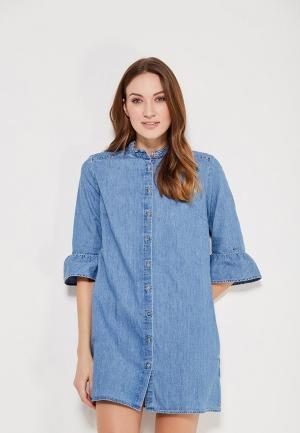 Платье джинсовое Tommy Jeans. Цвет: голубой
