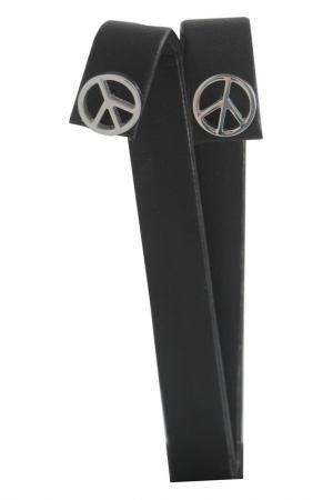 Серьги OXXO design. Цвет: стальной