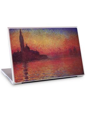 Наклейка для ноутбука 13.3 и 14.1 Sunset in Venice-Claude Monet Gelaskins. Цвет: красный