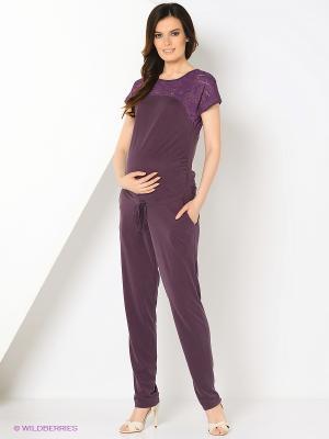 Комбинезон для беременных FEST. Цвет: фиолетовый