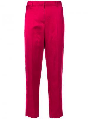 Зауженные брюки с завышенной талией Givenchy. Цвет: розовый и фиолетовый