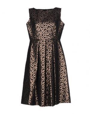 Платье до колена 1-ONE. Цвет: темно-коричневый