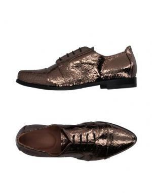 Обувь на шнурках ALTIEBASSI. Цвет: бронзовый