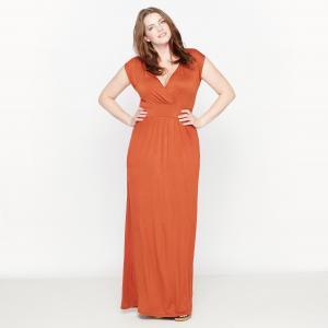 Платье длинное трикотажное CASTALUNA. Цвет: черный