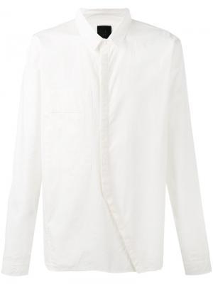 Рубашка с диагональной планкой Thom Krom. Цвет: белый