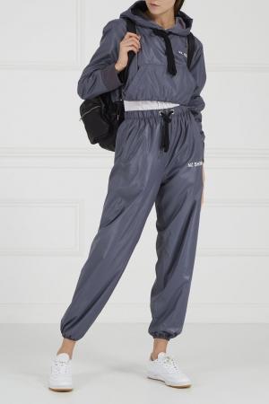 Серые широкие брюки Natasha Zinko. Цвет: none