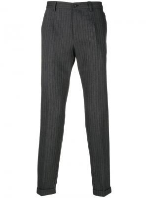Брюки в полоску Dolce & Gabbana. Цвет: серый