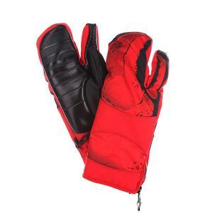 Варежки сноубордические  Klaw Red Neff. Цвет: красный