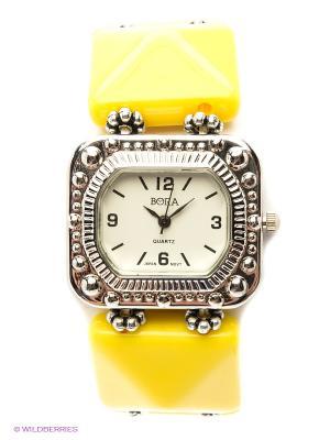 Часы Bora. Цвет: желтый