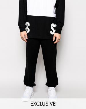 SONS Спортивные штаны с блочным логотипом эксклюзивно для. Цвет: черный