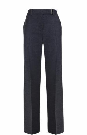 Шерстяные расклешенные брюки со стрелками Loro Piana. Цвет: синий