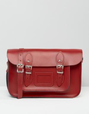 Leather Satchel Company Портфель. Цвет: красный