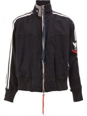 Спортивная куртка с полосами Greg Lauren. Цвет: синий
