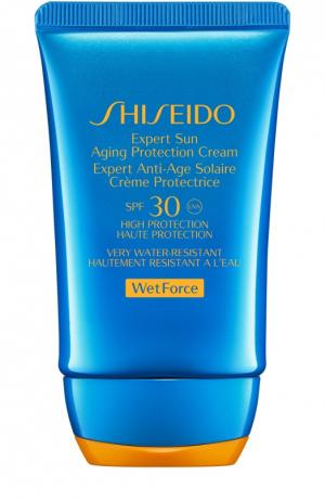 Солнцезащитный антивозрастной крем Expert Sun SPF30 Shiseido. Цвет: бесцветный