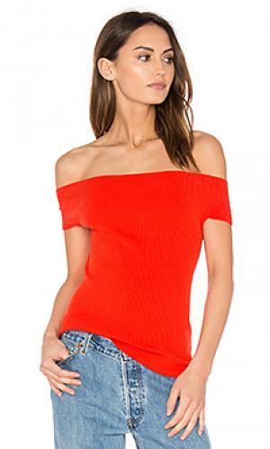 Off shoulder ribbed top 525 america. Цвет: красный