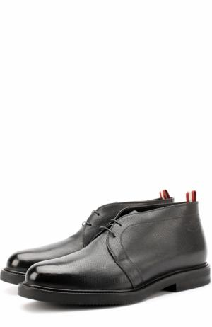 Кожаные ботинки на шнуровке Bally. Цвет: черный