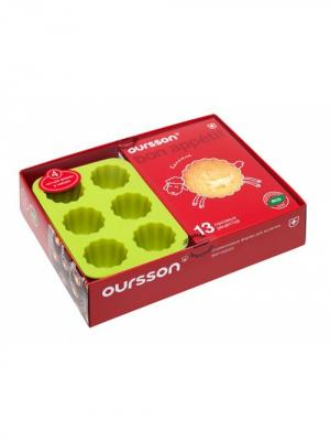 Набор форм для выпечки OURSSON. Цвет: светло-зеленый, красный, оранжевый
