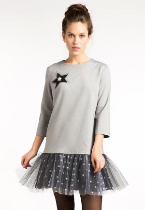Платье YuliaSway Yulia'Sway. Цвет: серый