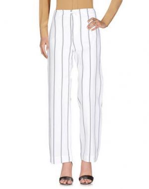 Повседневные брюки BAGUTTA. Цвет: белый