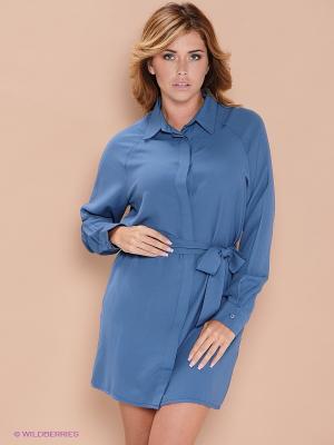 Платье ELENA FEDEL. Цвет: голубой
