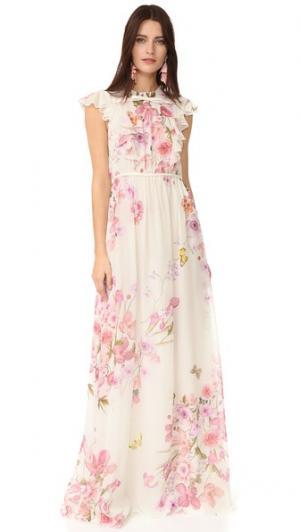 Макси-платье Giambattista Valli. Цвет: розовый
