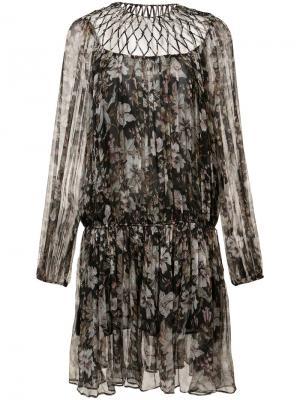 Платье с узором Zimmermann. Цвет: чёрный