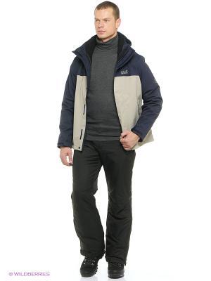 Куртка MONTERO JACKET MEN Jack Wolfskin. Цвет: серый