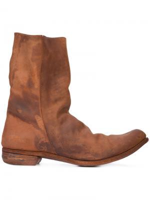 Ботинки с потертой отделкой A Diciannoveventitre. Цвет: коричневый