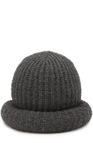 Шерстяная шляпа фактурной вязки Marc Jacobs. Цвет: серый