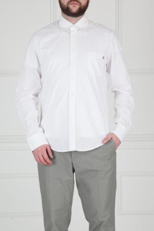 Хлопковая сорочка с принтом Castelbajac. Цвет: белый
