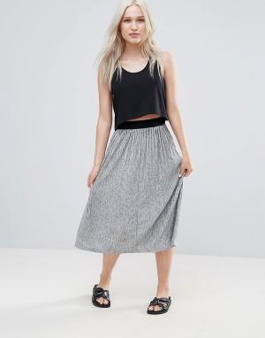 B.Young Плиссированная юбка миди. Цвет: серый