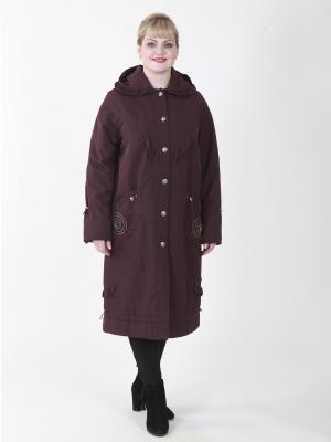 Пальто Джес VIKO. Цвет: темно-бордовый