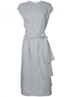 Платье с запахом Studio Nicholson. Цвет: серый