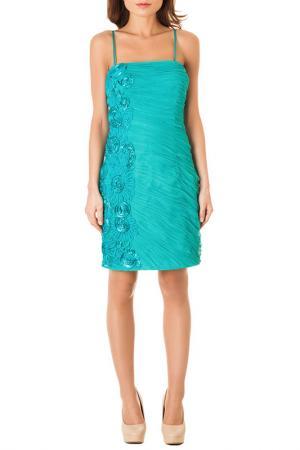 Коктейльное платье Faust. Цвет: голубой