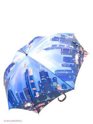 Зонт трость RAINDROPS. Цвет: синий, красный, белый