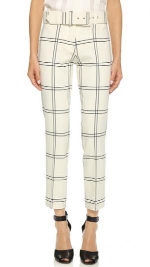 Укороченные брюки с поясом Derek Lam. Цвет: белый