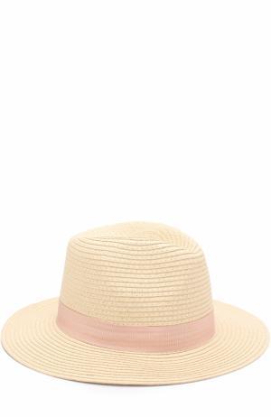 Пляжная шляпа Fedora с лентой Melissa Odabash. Цвет: розовый