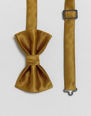 ASOS Фактурный галстук-бабочка. Цвет: желтый