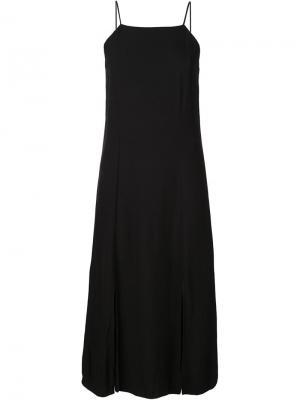 Длинное платье на бретелях 321. Цвет: чёрный