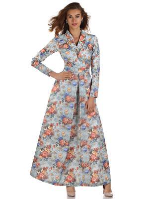 Платье OLIVEGREY. Цвет: серый, синий