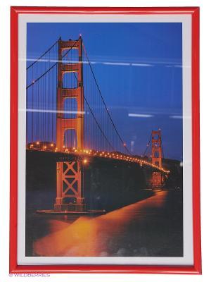 Фоторамка пластиковая 21Х29,7, poster  lux red VELD-CO. Цвет: красный