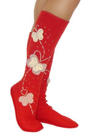 Носочки женские ILTANI design. Цвет: красный