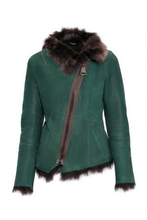Дубленка 154887 Mondial. Цвет: зеленый
