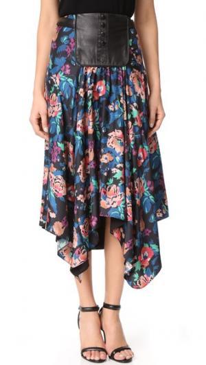 Юбка с цветочным рисунком Crystal Jill Stuart. Цвет: цветочный черный