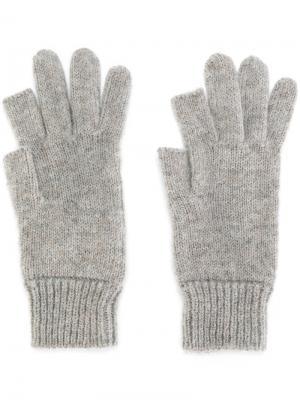 Ребристые перчатки Rick Owens. Цвет: телесный