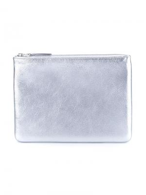 Кошелек Silver Comme Des Garçons Wallet. Цвет: металлический