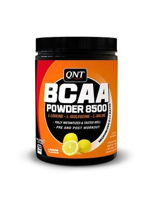 Аминокислоты QNT BCAA Powder 8500 (лимон), 350г. Цвет: черный