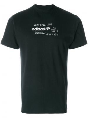 Футболка с принтом Adidas Originals By Alexander Wang. Цвет: чёрный