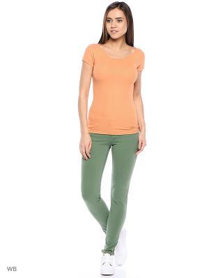 Джинсы United Colors of Benetton. Цвет: хаки, кремовый